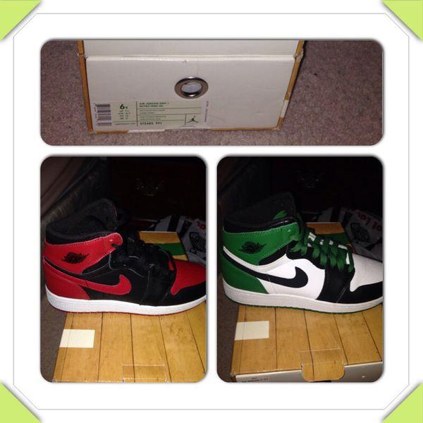 huge discount a45f7 f356c Air Jordan 1 (I) Retro High – DMP Bulls vs. Celtics 60+ Pack – White    Black – Celtic Green
