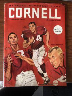 1963 Cornell Football Program Thumbnail