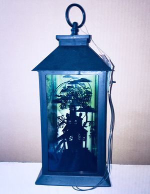 """Stockton, CA. HALLOWEEN DECO - Haunted House LED Lantern (12"""" tall) BRAND NEW With Tags"""