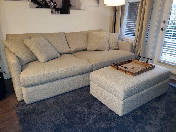 Sensational Crate Barrel Lounge Ii Sofa 93 Taft Cement For Sale Evergreenethics Interior Chair Design Evergreenethicsorg