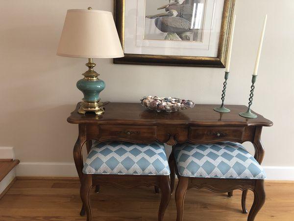 Admirable Ethan Allen Country French Sofa Table For Sale In Houston Inzonedesignstudio Interior Chair Design Inzonedesignstudiocom