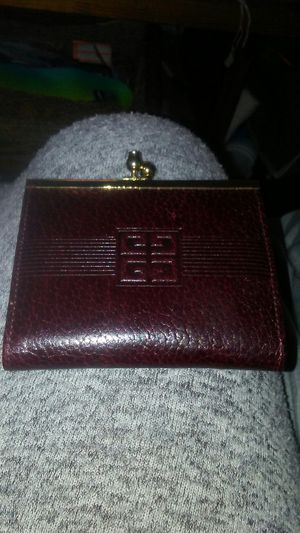 Givenchy kiss lock maroon leather authentic coin purse for Sale in Pittsburgh, PA