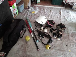 Softball bag with equipment included for Sale in Phoenix, AZ