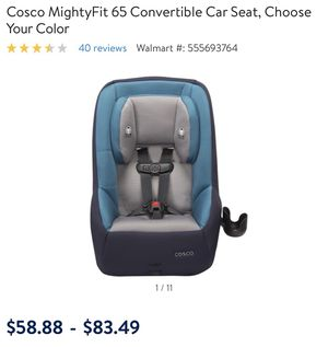 COSCO Mighty Fit Convertible Car Seat For Sale In Portland OR