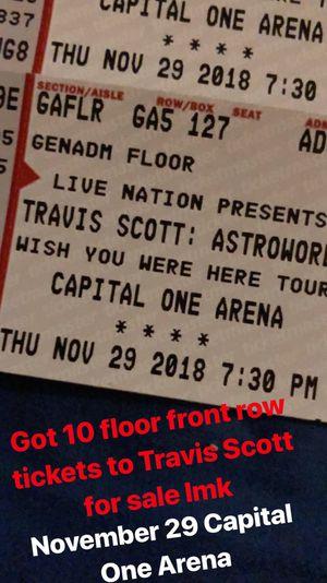 Travis Scott Floor Seats for Sale in Springfield, VA