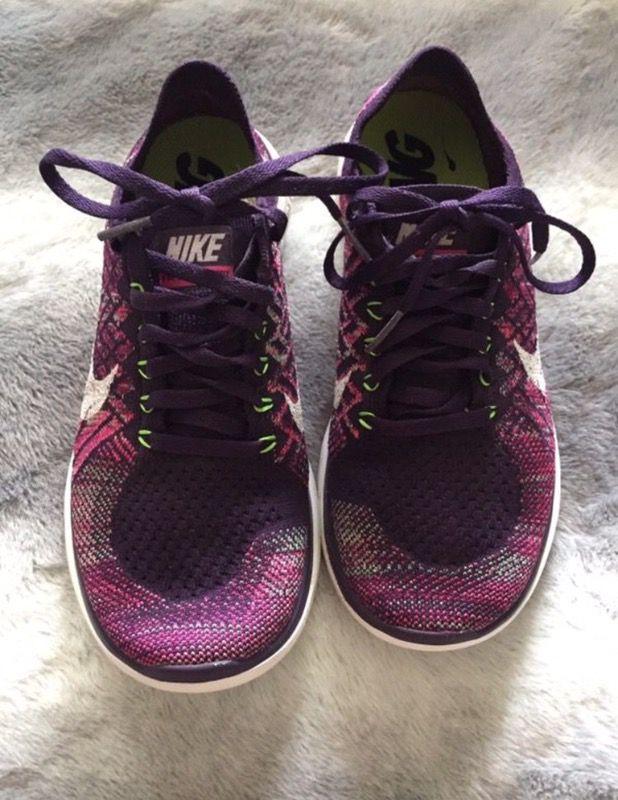 Nike flyknit purple woman 8