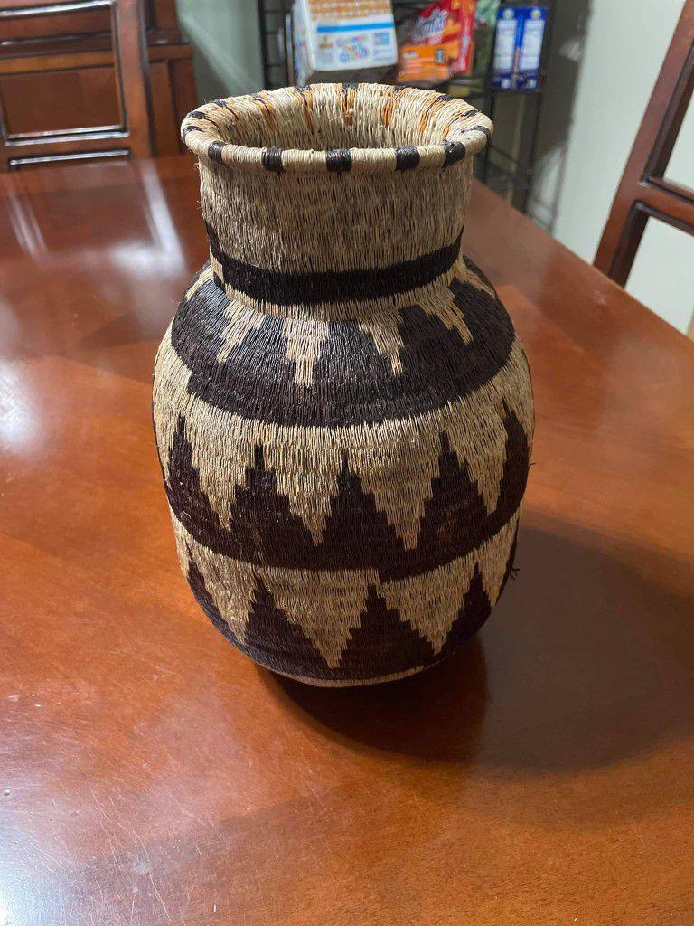 Native American Woven Vessel Basket