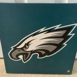 "Philadelphia Eagles Canvas Portrait Logo Painting Picture For Wall 12"" X 12""  Thumbnail"