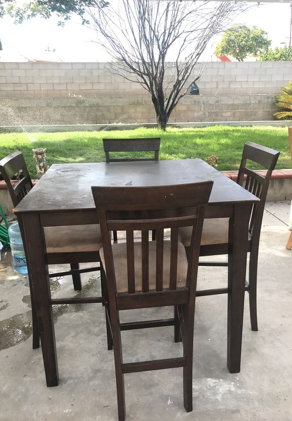 brown- 4 chair dining table (furniture) in chula vista, ca - offerup 4 Chair Dining Table