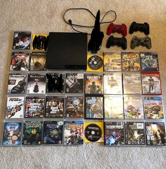 Ps4 pro with all the games in two controller cleaning out my garage my son's dont use it