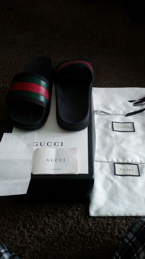 53d054cd2faf63 GUCCI slippers serious inquiries only size 9 for Sale in Houston