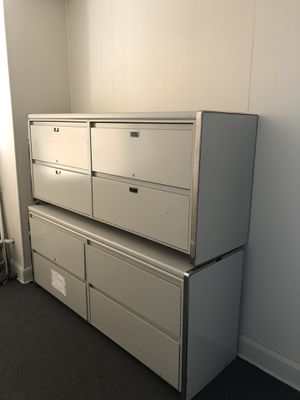 Right drawer metal industrial filing cabinets for Sale in Columbus, OH