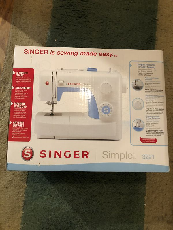 SINGER Simple 40 Sewing Machine For Sale In Hyattsville MD OfferUp Stunning Singer Simple 3221 Sewing Machine