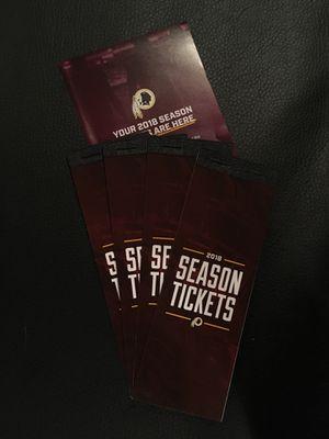 Redskins Tickets for Sale in Rockville, MD