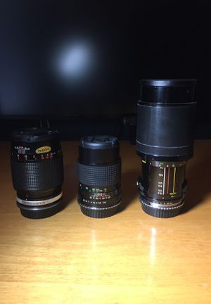 Vintage Lenses with Canon EF Adaptors for Sale in Aloha, OR