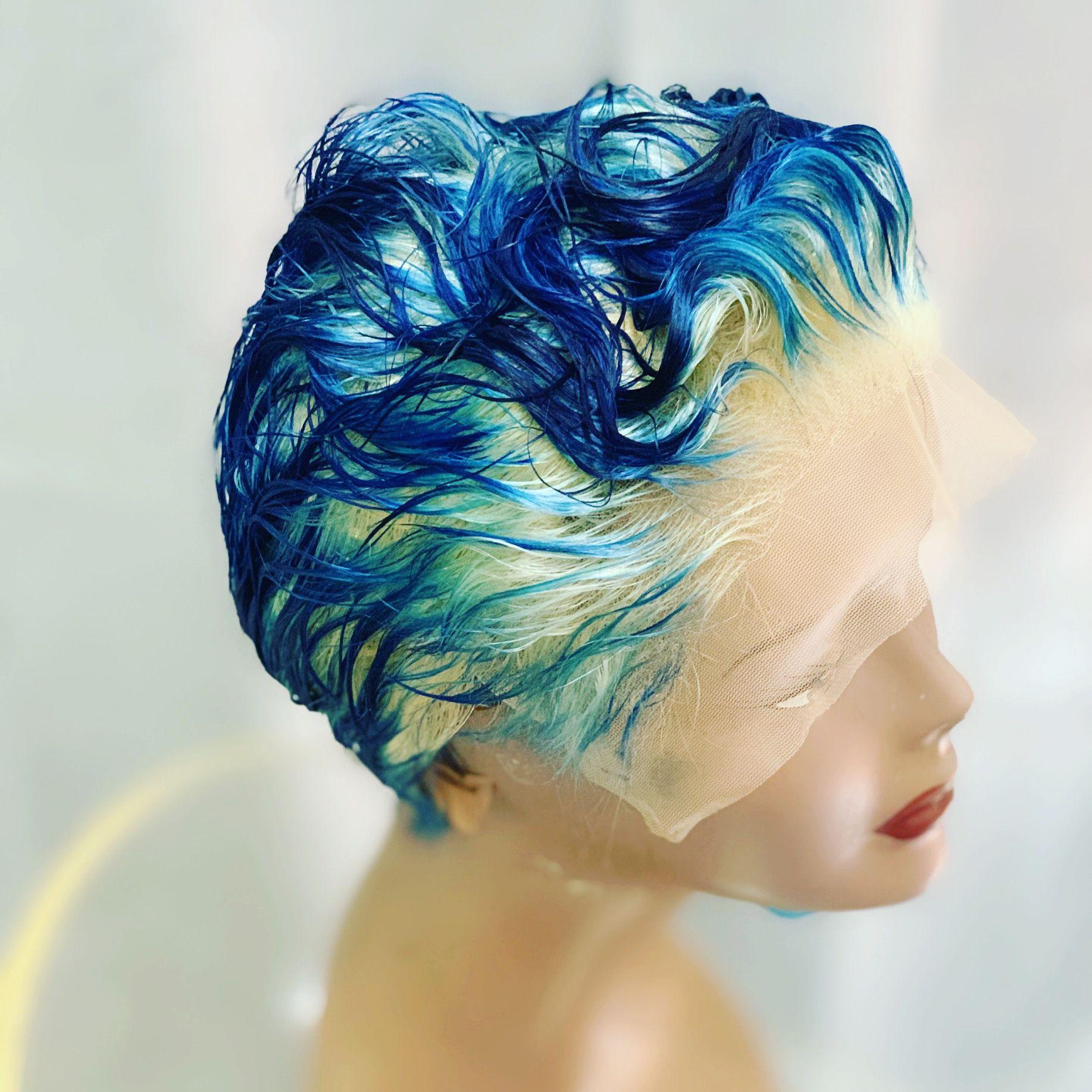 Custom color two tonelacw wig human
