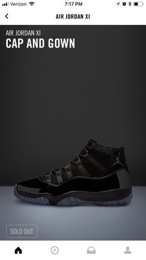 Air Jordan 11 XI - cap and gown black size 9.5 brand new for Sale in Pittsburgh, PA