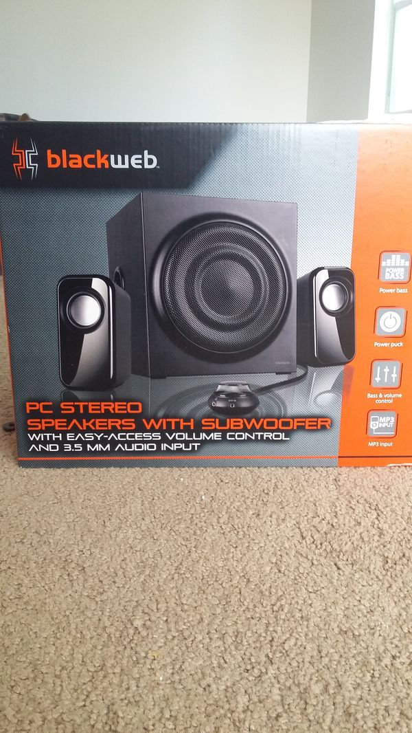 BLACKWEB PC STEREO SYSTEM with SUBWOOFER * NEW IN SEALED BOX! for Sale in  Kuna, ID - OfferUp