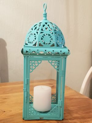Turquoise Candle Lantern for Sale in Portland, OR