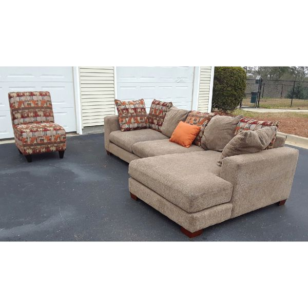Ashley Furniture Sectional Couch And A Chair For Sale In West