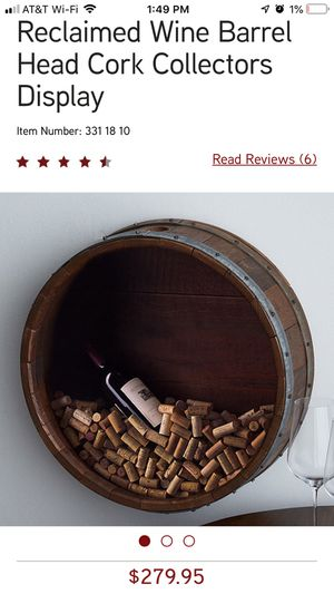 Wine Barrell Top Cork Holder for Sale in Lynnfield, MA