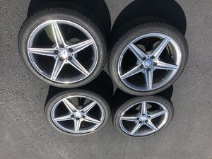 18 AMG Wheels/Tires/TPMS Sensors - New for Sale in Chantilly, VA
