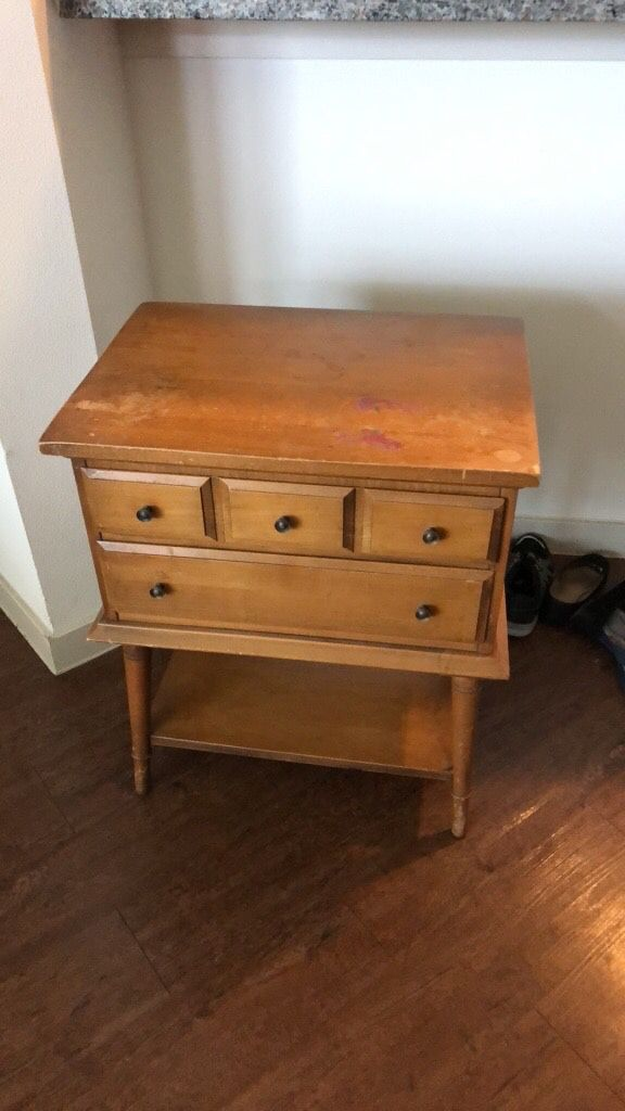 Rustic end table with drawers Furniture in Austin TX OfferUp