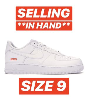 Photo Nike Supreme Air Force 1 White Size 9