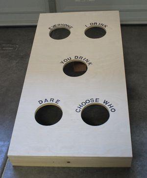 Drinking game cornhole board for Sale in Alexandria, VA