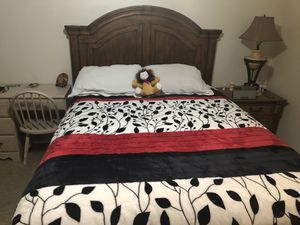 Photo Queen size bed frame for sale $140.00 OBO