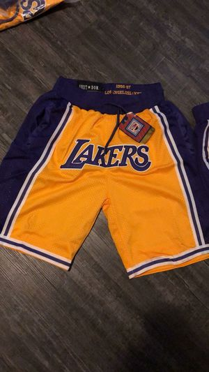 Lakers popular sport basketball shorts $60 all sizes for Sale in Los Angeles, CA