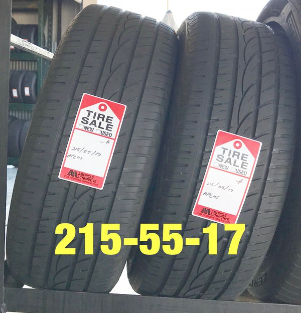 2 Used Tires 215/55/17 APlus For Sale In Houston, TX