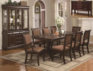 Brand new brown cherry color 7 piece dining table set for Sale in Takoma Park, MD