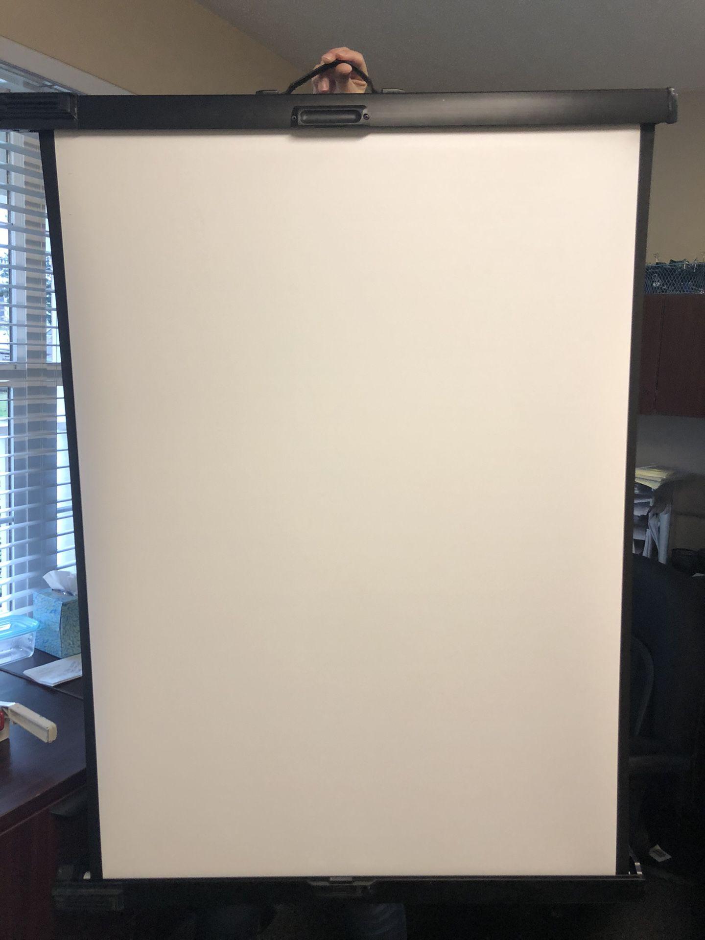 InFocus Retractable White Screen