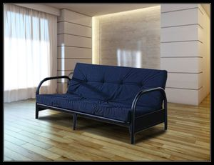 Black futon frame free mattress and delivery for Sale in Hyattsville, MD