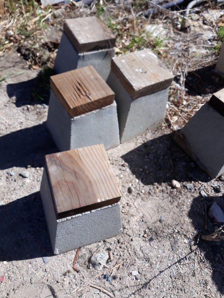 Torres De Concreto Para Levantar Postes $20 Por Los 5