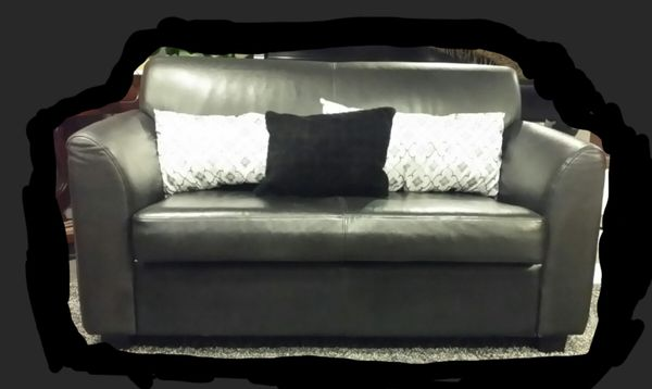 Tremendous Black Faux Leather Loveseat For Sale In Rolling Meadows Il Offerup Andrewgaddart Wooden Chair Designs For Living Room Andrewgaddartcom