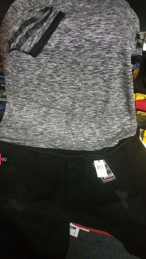 Shirt 3x pants size 46 all black for Sale in Tampa, FL