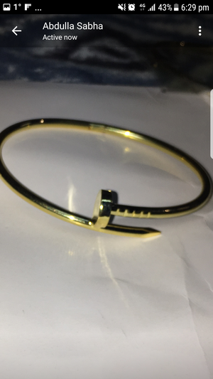 Gold plated pracelt for Sale in TN, US