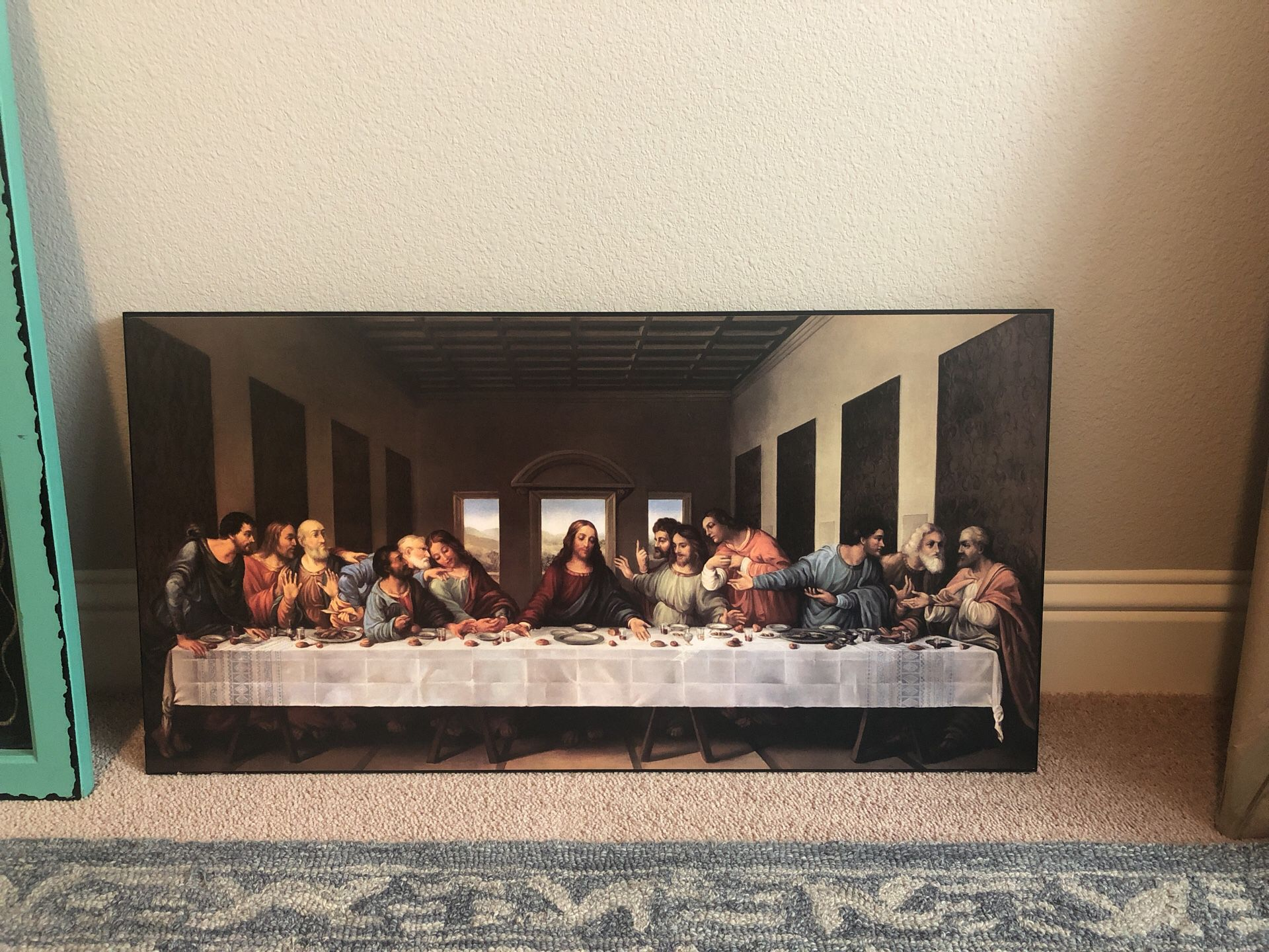Last supper solid wood picture