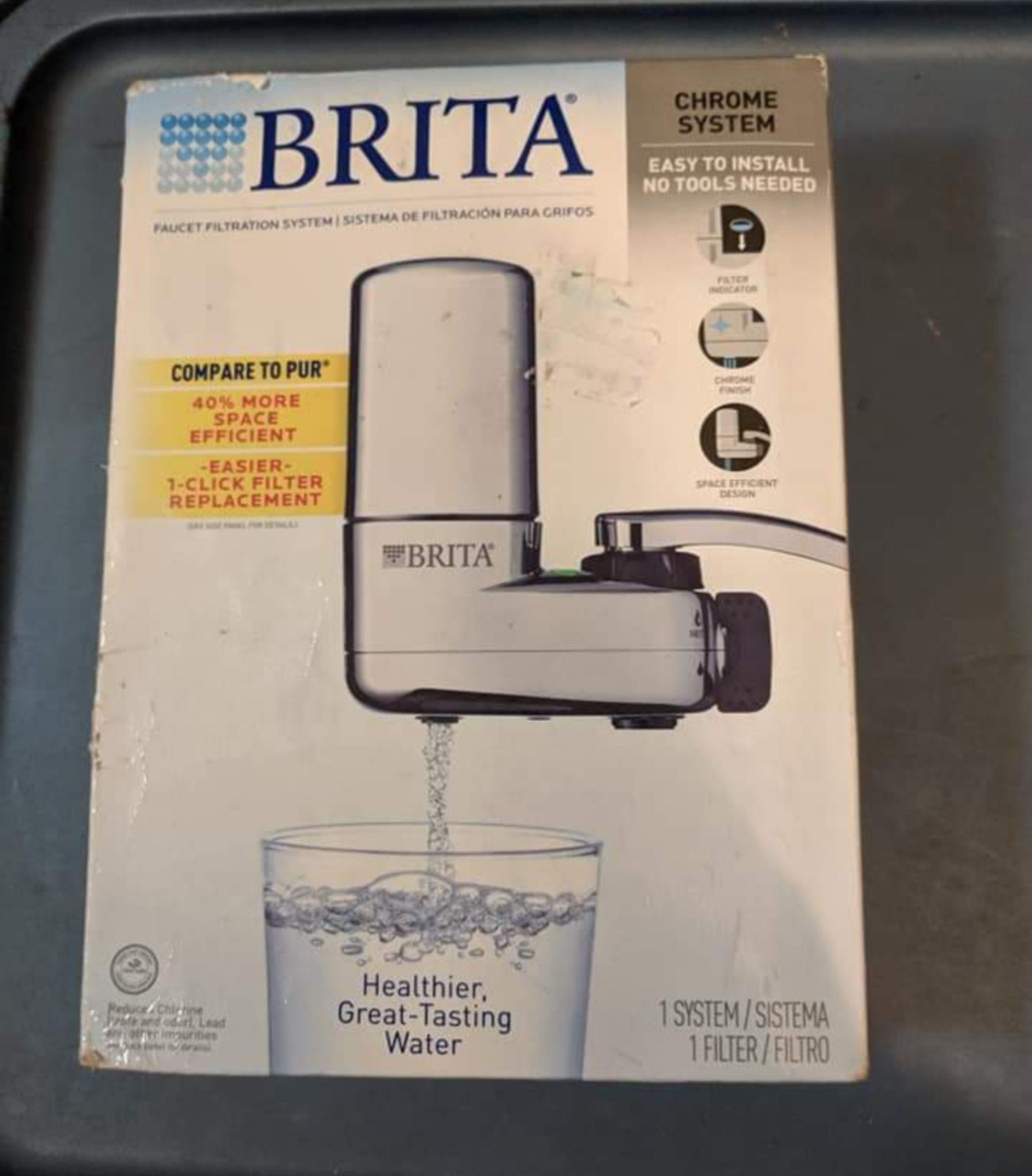 Brita Faucet Filtration System Chrome Finish