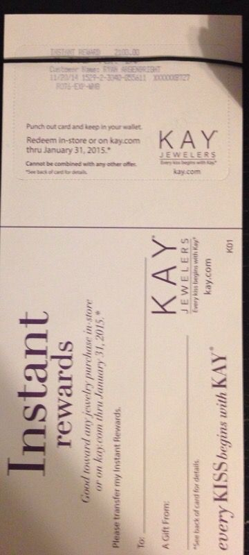 2 100 Kay Jewelers Instant Rewards For Sale In Chicago Il Offerup