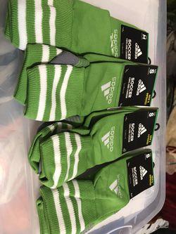 Adidas green soccer socks Thumbnail