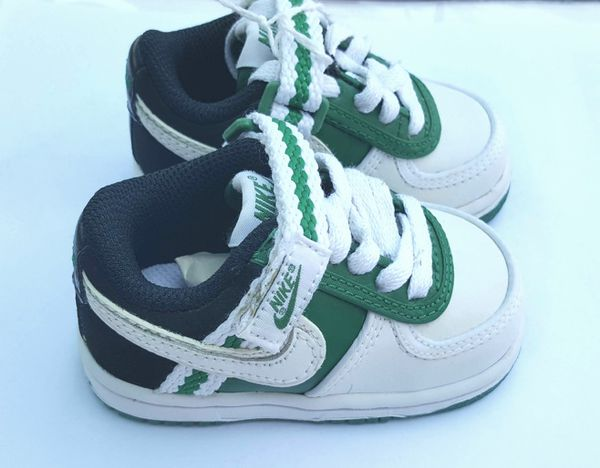 Nike Green and White Baby Shoes Size 3C for Sale in Chicago 54252d4cd3e1