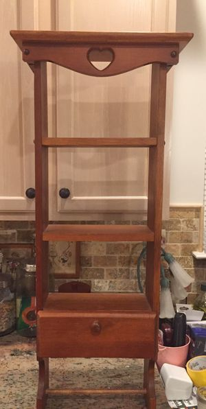 Handmade wooden wall hanging shelf with cabinet at bottom for Sale in Germantown, MD