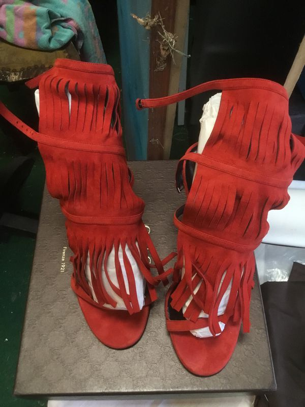 3160582ad5a Gucci Sand Pelle S Cuoio Red Flame High Heel Shoes for Sale in ...