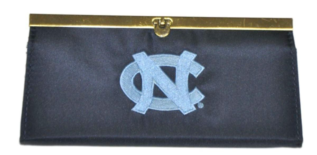 """North Carolina Tar Heels Game Day Outfitters Womens Navy  Clutch 8.5"""" x 4"""""""