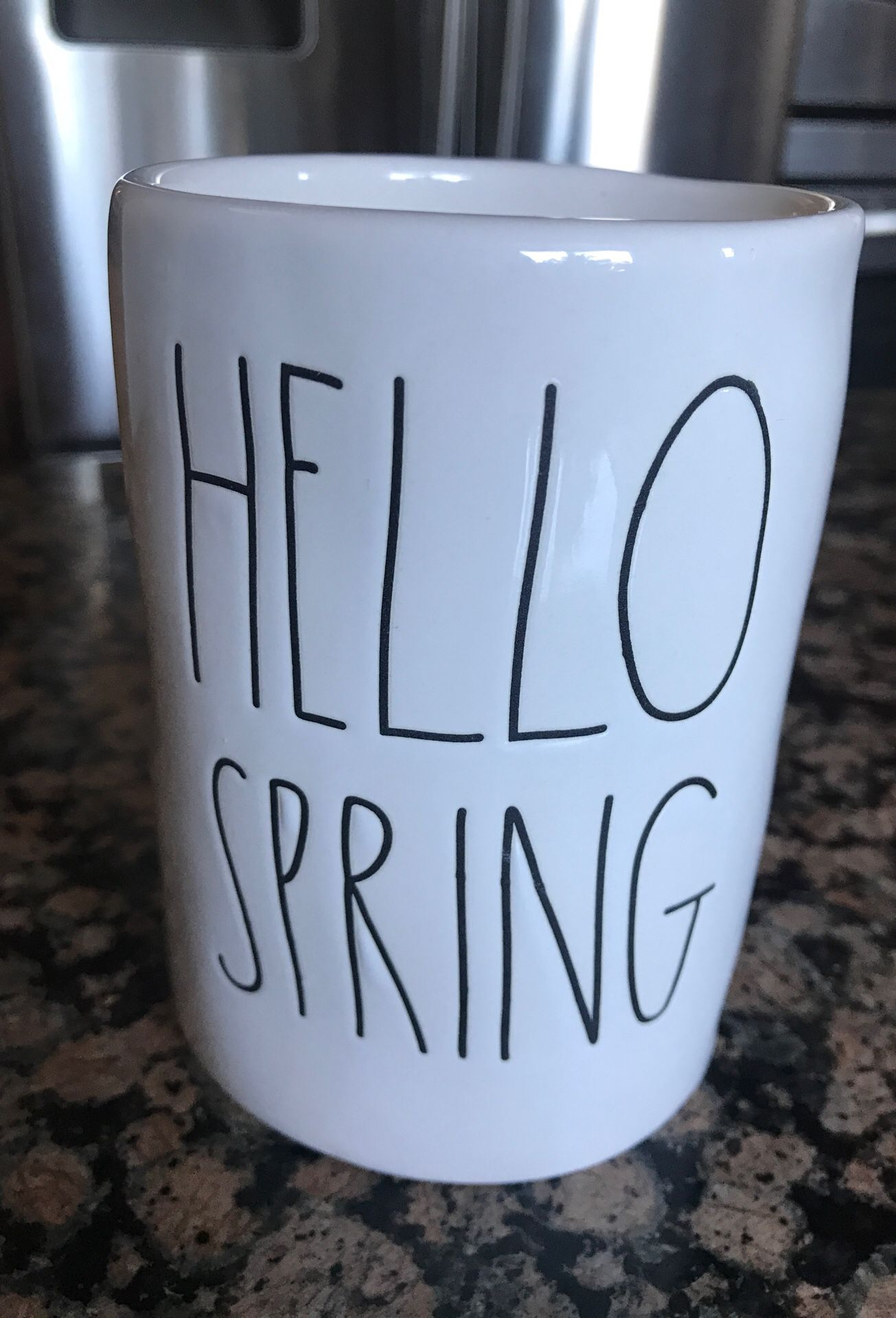 RAE DUNN HELLO SPRING PINK PEONY SCENTED CANDLE
