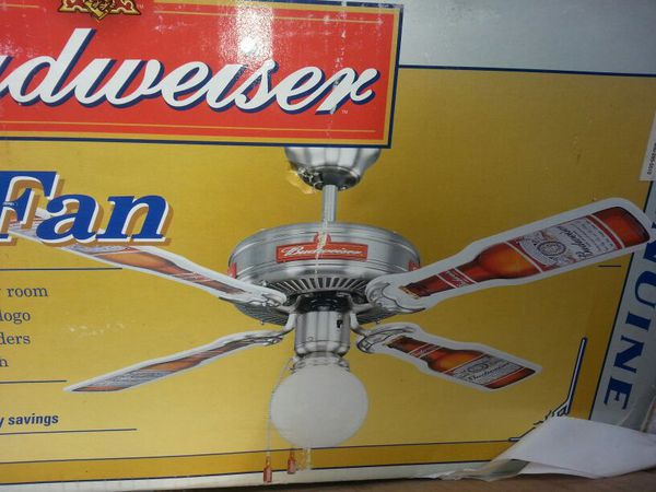 Extremely Rare Budweiser Ceiling Fan New For Sale In Saint