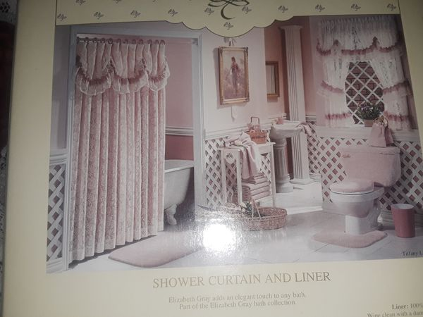 Tiffany Lace Shower Curtain Cranberry New Household In Port Orange FL